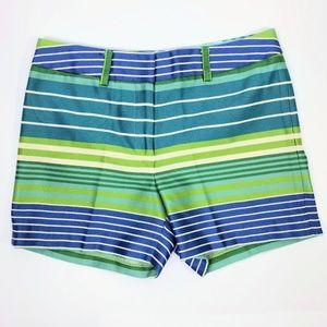 J. McLauglin Blue Striped Chino Shorts Size 4